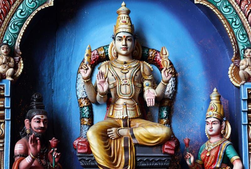 Hinduistische Statuen bei Batu höhlt Kuala Lumpur Malaysia aus stockfotografie