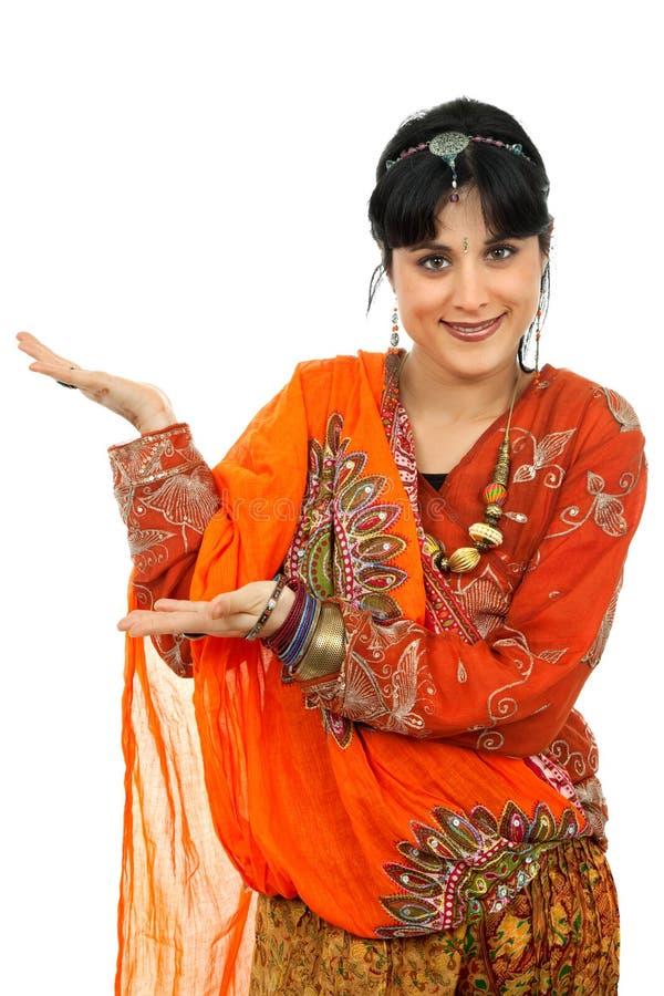 Hinduistischer Tänzer stockbild