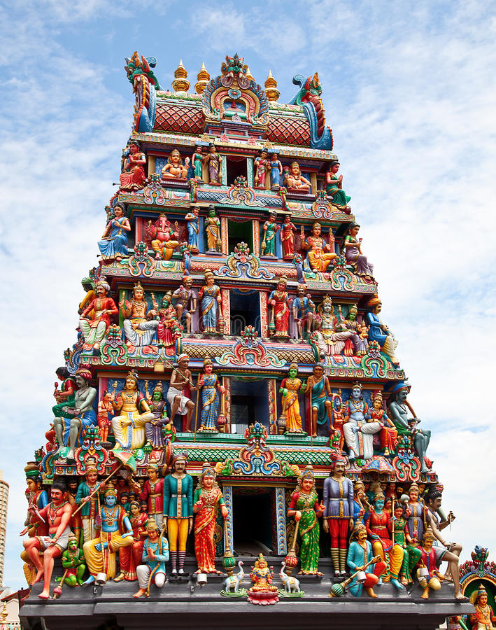 Hinduistischer Tempel lizenzfreies stockfoto