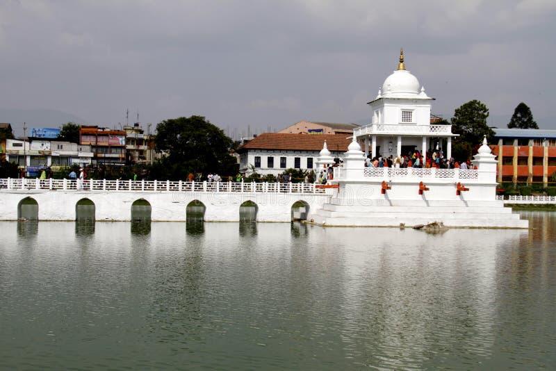 Hinduistischer Tempel in Katmandu stockfotos