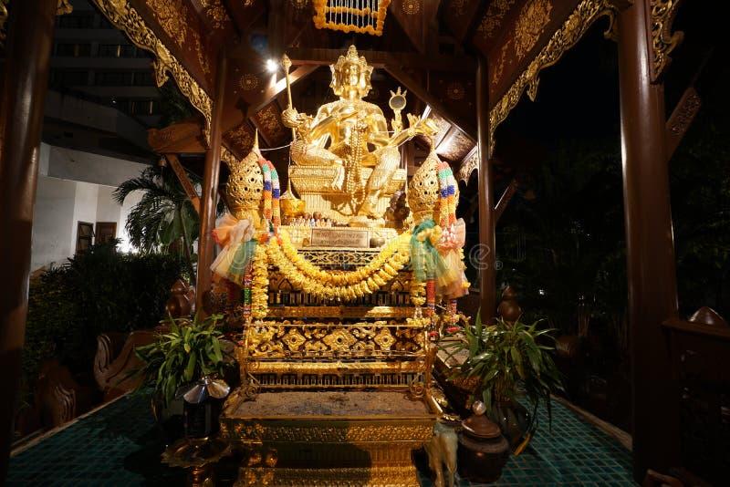 Hinduizm statua lub phra phrom w Tajlandia zdjęcia royalty free