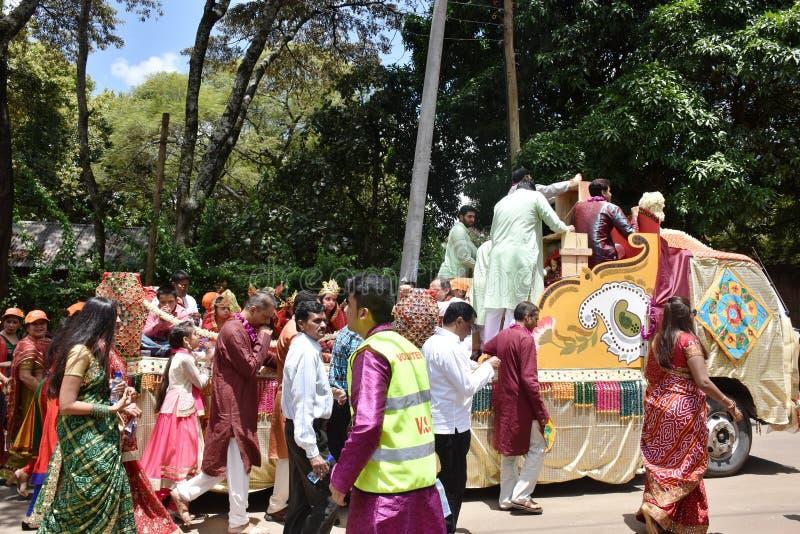 Hindus świętowanie w Kenja obraz royalty free