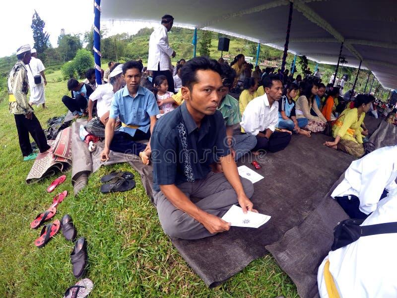 Hindus bidt stock foto
