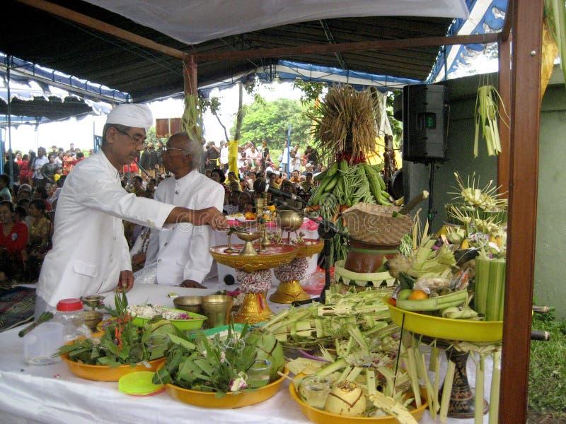 Hindus bidt royalty-vrije stock afbeeldingen