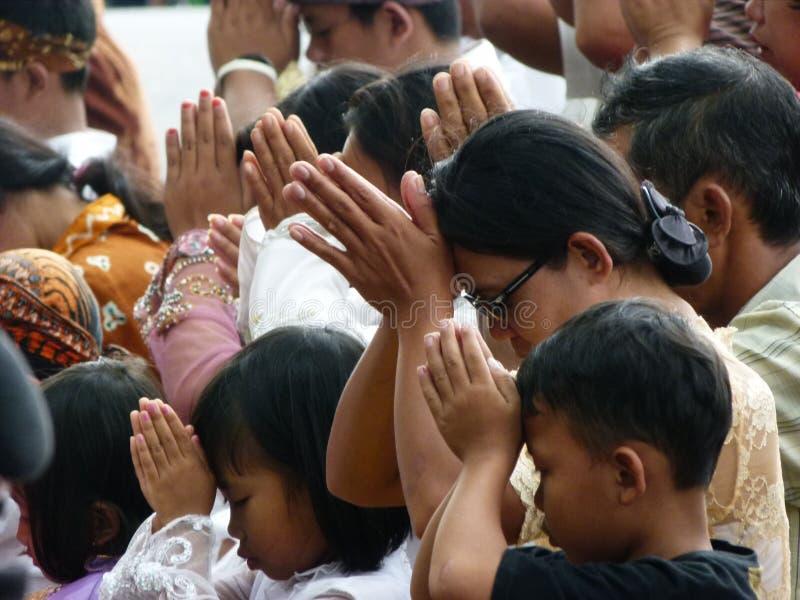 Hindus bidt royalty-vrije stock afbeelding
