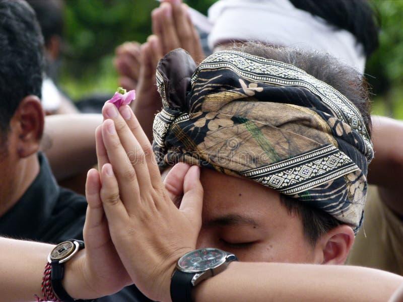 Hindus bidt royalty-vrije stock foto's