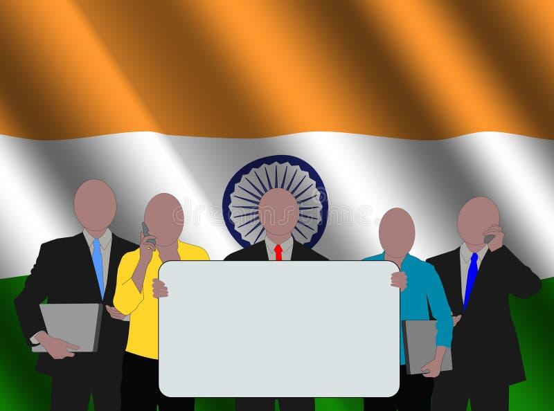hindus chorągwiana drużyna ilustracji