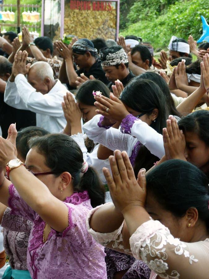 Hindus ruega imagen de archivo libre de regalías