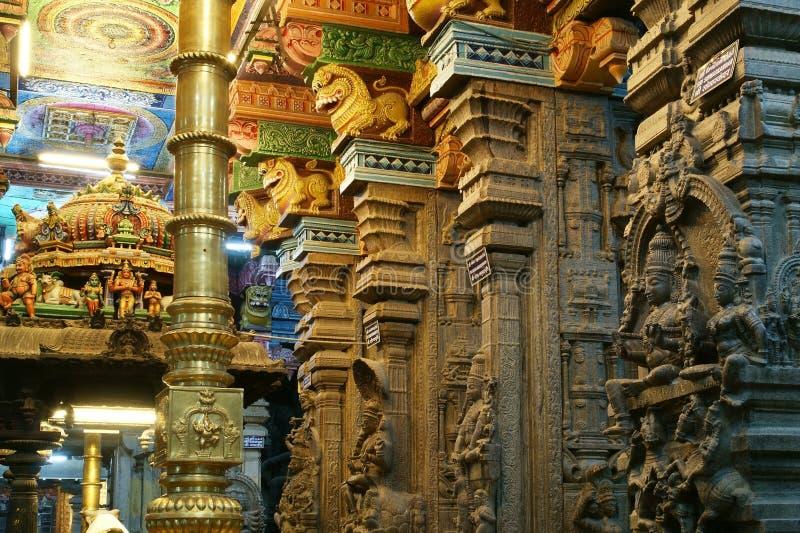 hinduscy ind wśrodku Madurai meenakshi świątyni obrazy royalty free