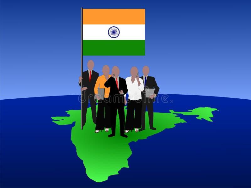 hindusi biznesowej zespołu ilustracji