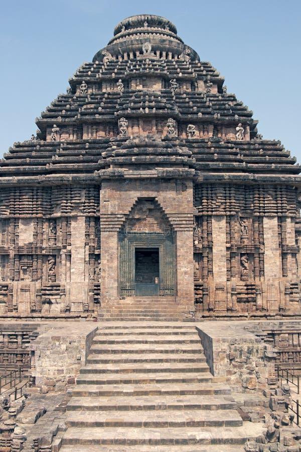 hinduska świątynia konark fotografia royalty free