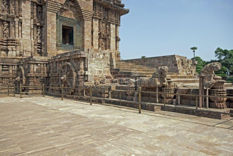 hinduska świątynia konark pradawnych zdjęcia stock