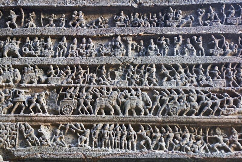 hinduska świątynia starożytnego rzeźby zdjęcie stock