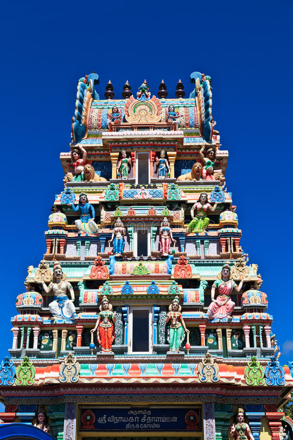 Hinduska świątynia w Mauritius zdjęcia stock