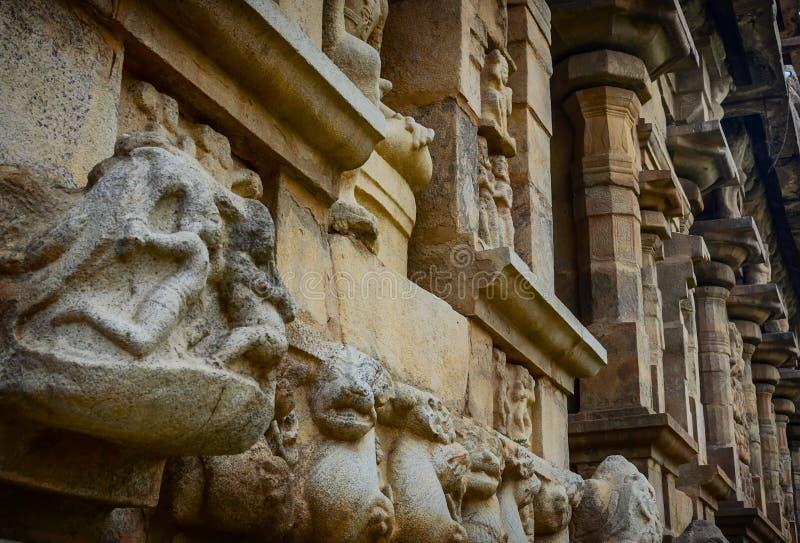 Hinduska bóg statua w Brihadeeswarar świątyni zdjęcia royalty free