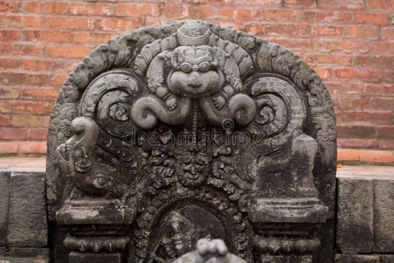 Hinduska bogini statua = fotografia royalty free