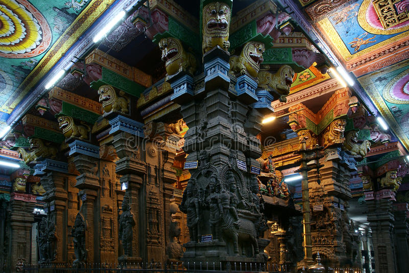 hinduska Madurai meenakshi świątynia fotografia royalty free