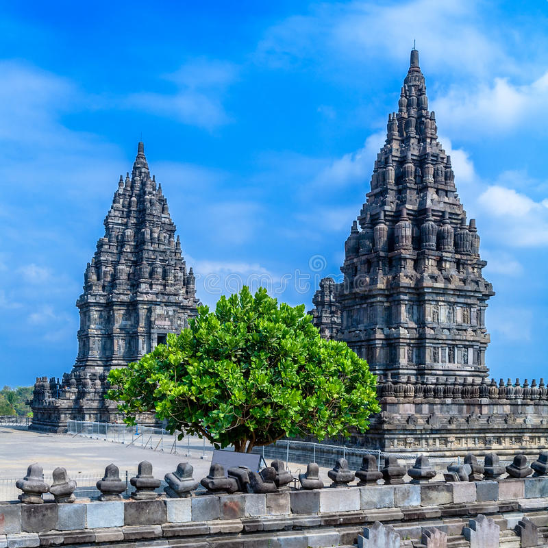 Hinduska Prambanan Świątynia, Jawa zdjęcie royalty free