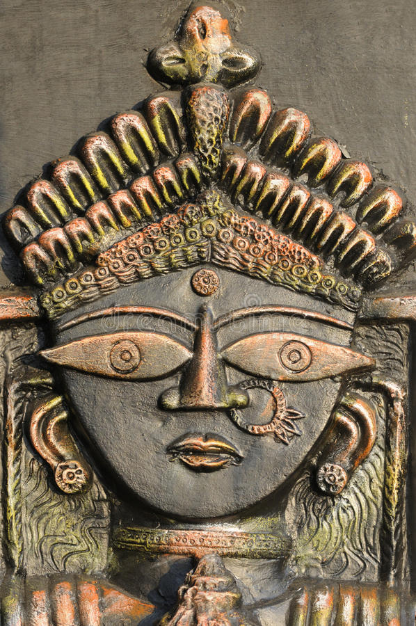 Hinduski bóg Durga. obraz royalty free