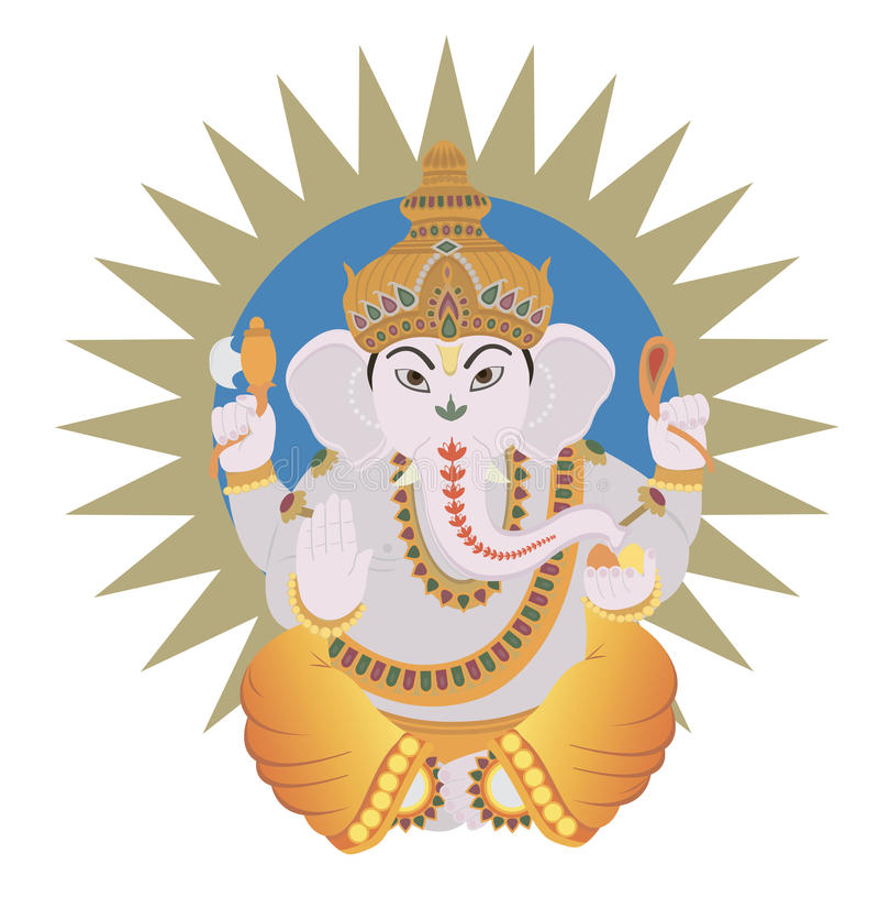 Hinduski Ganesh royalty ilustracja