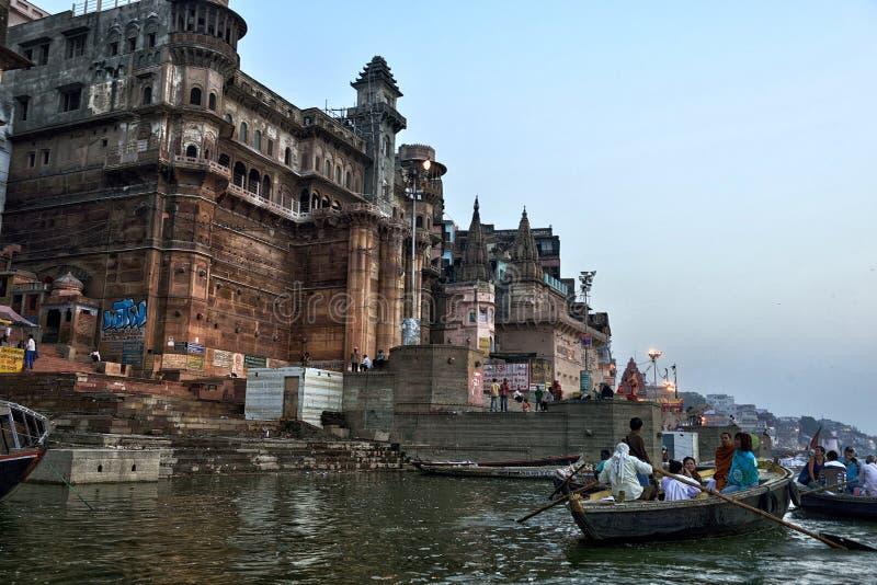 Hinduski Ghats w Varanasi zdjęcie stock
