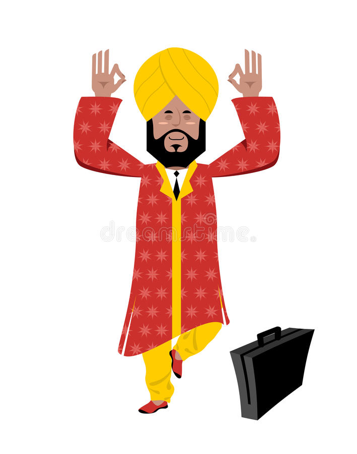 Hinduski medytować royalty ilustracja