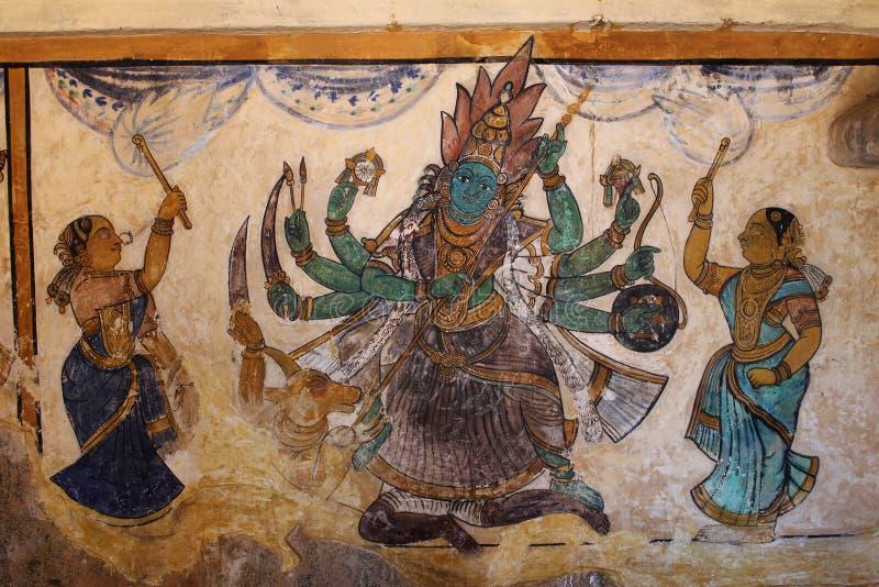 Hinduski pojęcie obraz od ścian Południowa Indiańska świątynia zdjęcia royalty free