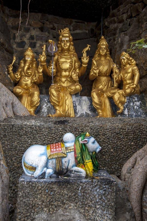 Hinduszene am Koneswaram Kovil bei Trincomale lizenzfreie stockfotos