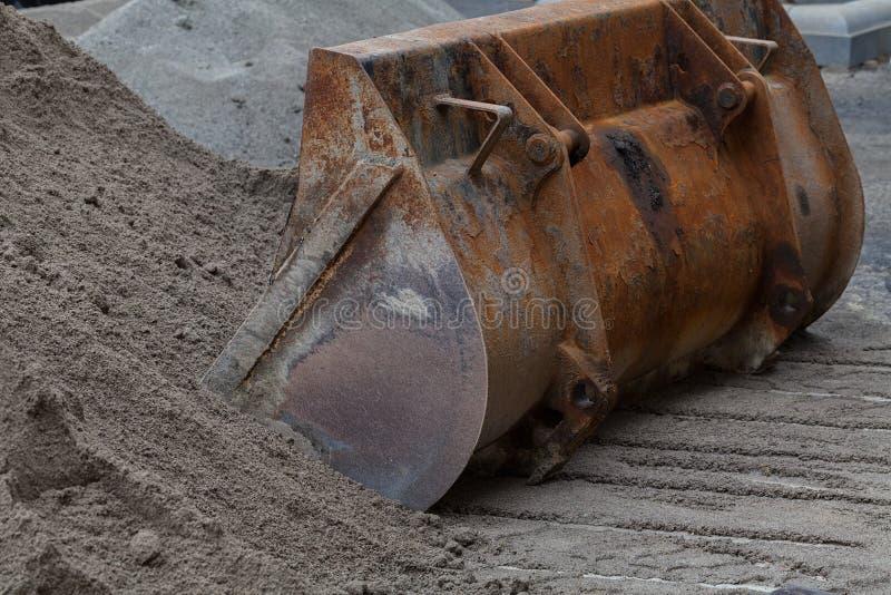 Hink för grävskopa arkivfoton