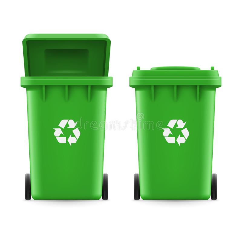 Hinkar för avfall stock illustrationer