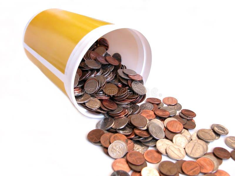 hinken coins full royaltyfri fotografi