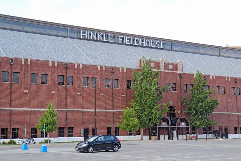 Hinkle Fieldhouse en el campus universitario de Butler fotos de archivo