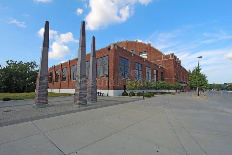 Hinkle Fieldhouse op de campus van Butler University stock afbeelding