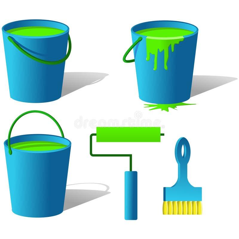 hinkmålarfärg stock illustrationer