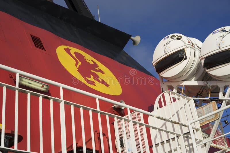 Hinter dem Schiff lizenzfreie stockfotos