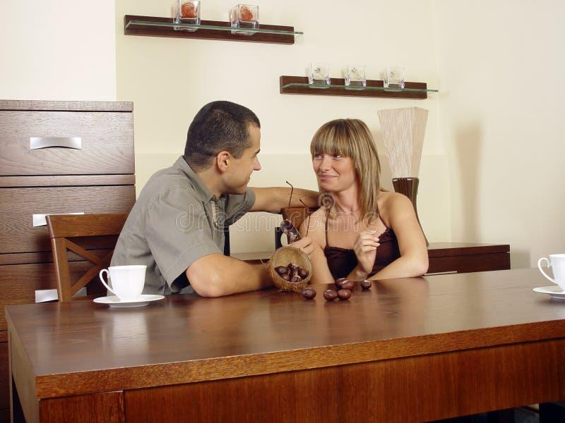 Hinter Kaffeetische stockfoto