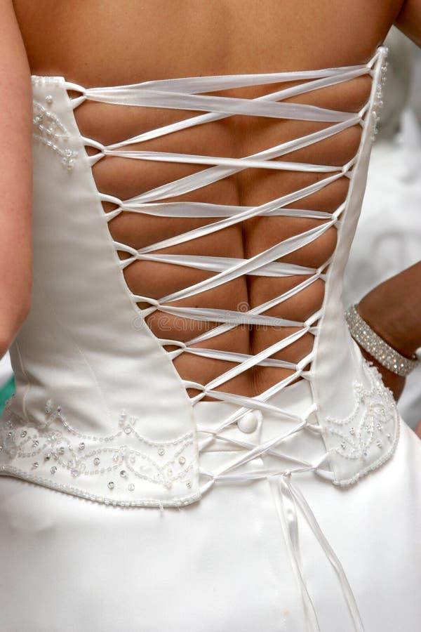 Hinter Kleid lizenzfreie stockfotos