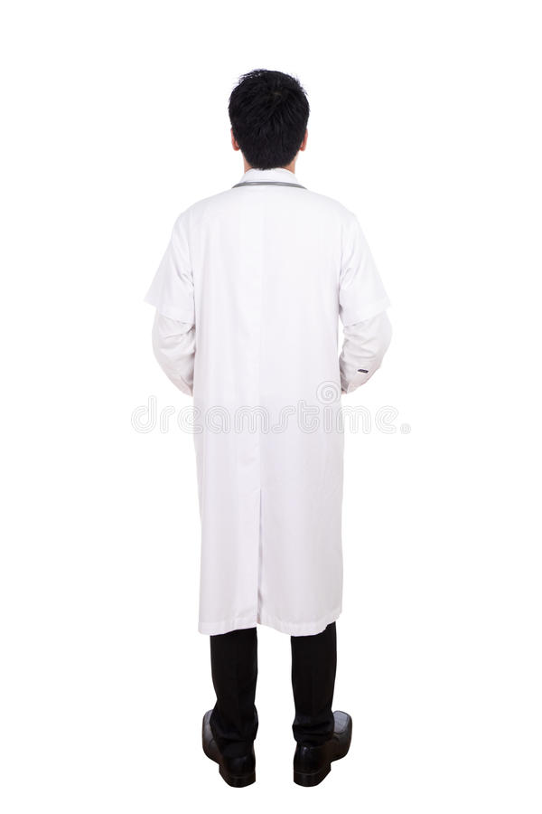 Hintere Ansicht Arztes stockbild