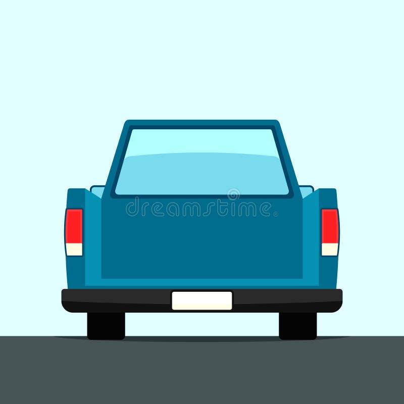 Hintere Ansicht des Autos stock abbildung
