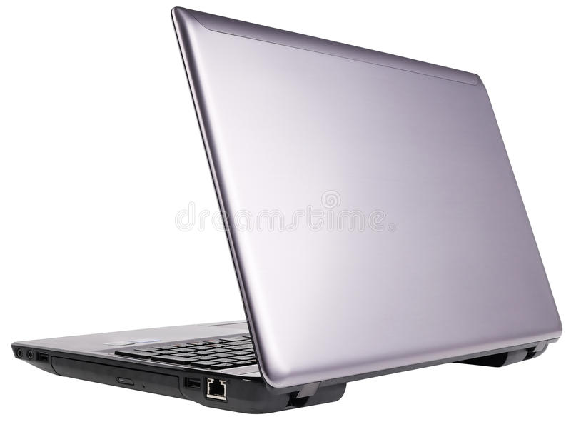 Hintere Ansicht Des Laptops Stockfoto