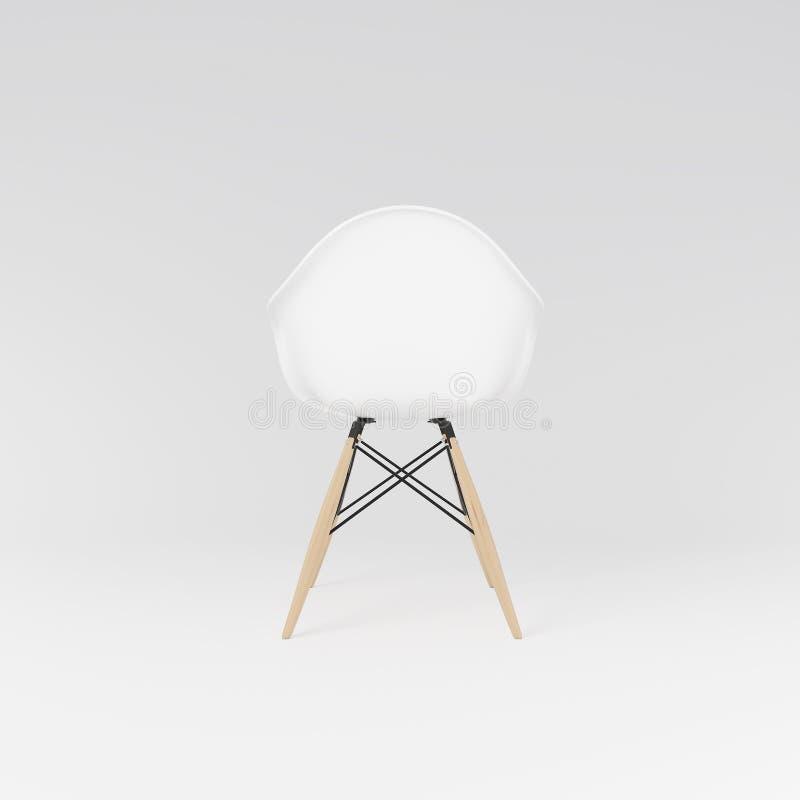 Hintere Ansicht des weißen dinning Stuhls stockfotografie