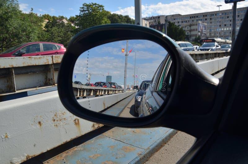 Hintere Ansicht-Spiegel stockfotos