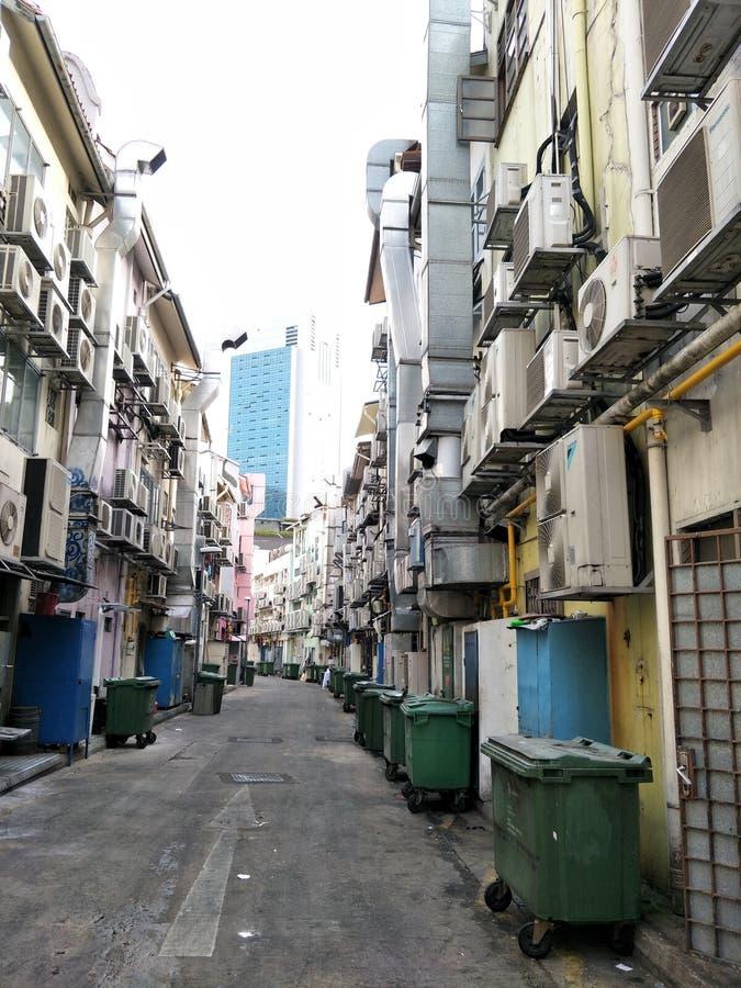 Hintere Gasse an der Kreisstraße, Singapur stockfotografie