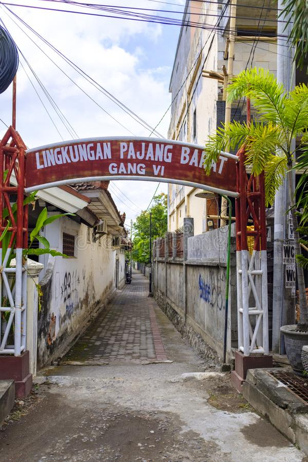 Hintere Gasse in Mataram lizenzfreie stockfotografie