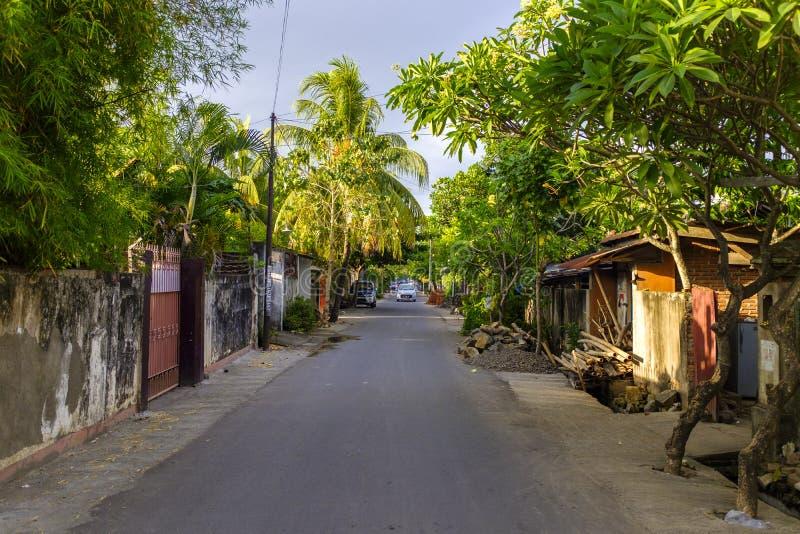 Hintere Gasse in Mataram stockbild