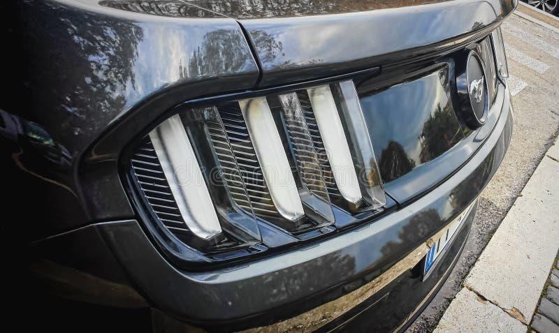 Hinterer Abschluss Ford-Mustangs oben lizenzfreie stockfotos