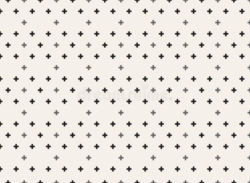 Hinteres geometrisches Formmuster auf weichem braunem Hintergrund lizenzfreie abbildung