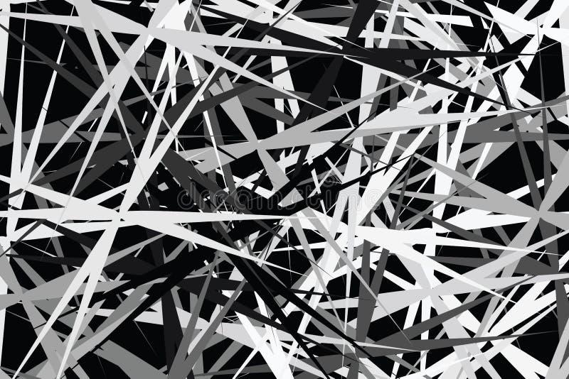 Hinteres weißes Kunst tapezieren Pseudografik der Zusammenfassung für Gewebedesign auf schwarzem Hintergrund, bunte helle Kunstli vektor abbildung