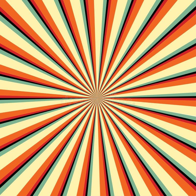 Hintergründe strahlen oder abstrakte Sonnenstrahlen aus Heißer Sommer Auch im corel abgehobenen Betrag Abstrakter Hintergrund der stock abbildung