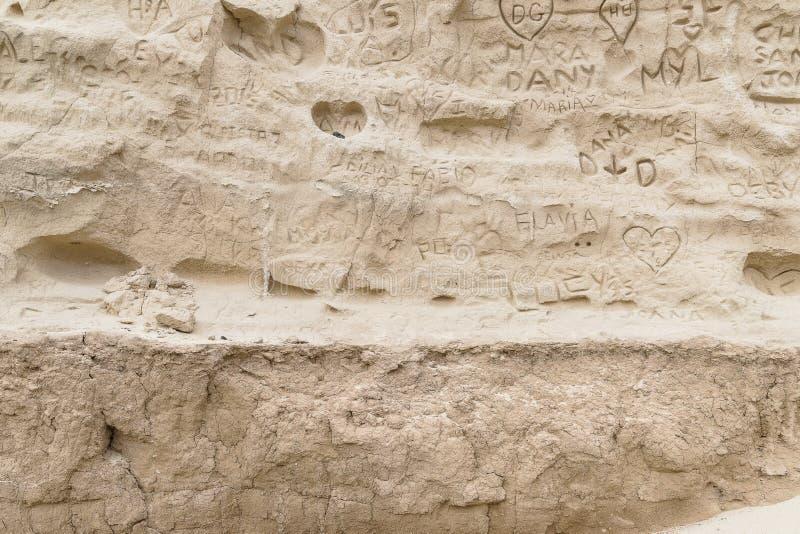 Hintergründe des strukturierten Sandes stockbild
